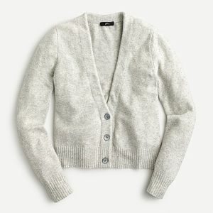 J.Crew V-Neck Sparkle Alpaca Wool Cardigan Sweater
